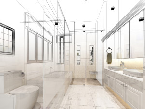 how to design a new bathroom